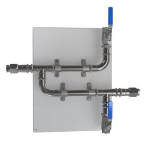 CR-2C-V-SS316L 20mm (3/4 inch) SS316 Rack with Isolation Valves