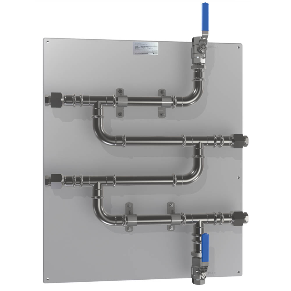 CR-4C-V-SS316L 20mm (3/4 inch) SS316 Rack with Isolation Valves