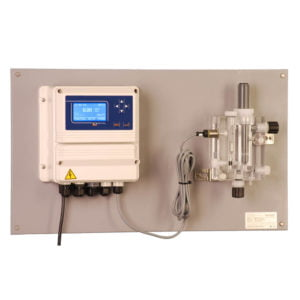 EMEC FCCS-LDCL CL2/CLO2 Control System on PVC Backboard