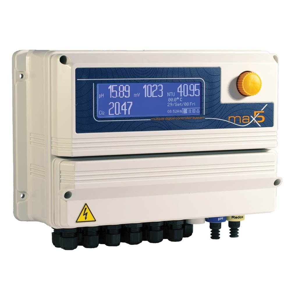 EMEC MAX5 5 Channel Controller for pH/ORP, CL2/CLO2/O3, NTU/DO/EC/Temp