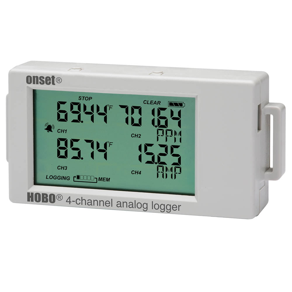 HOBO UX120-006M Data Logger 4 Channel 4-20mA with LCD Display
