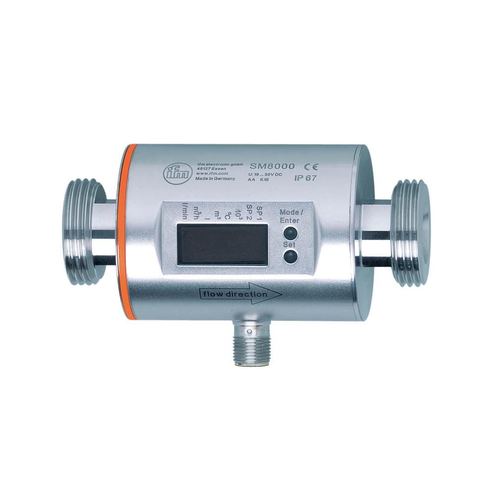 IFM SM8000 Flow Sensor G1 0.2-100 l/min FKM