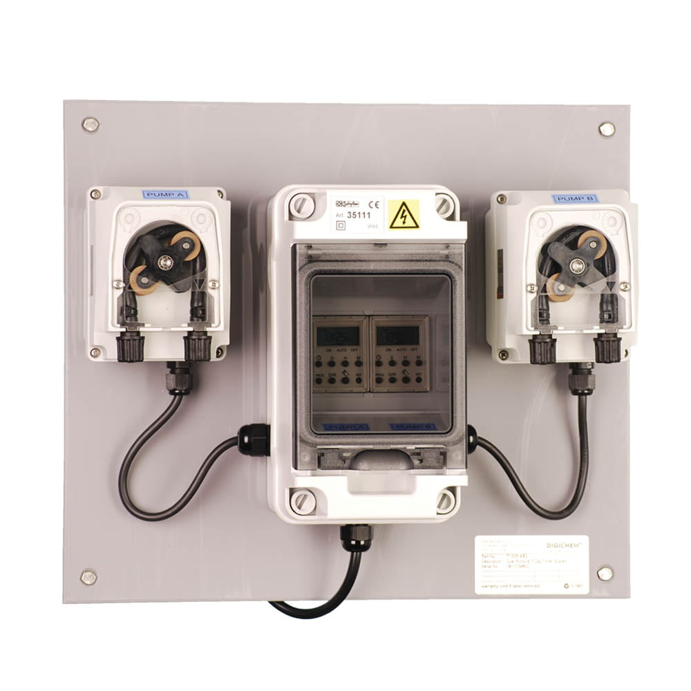 T100P-AB2 2 channel 7-day Timer controlled peristaltic pumps